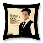 Public Speaker In India Throw Pillow