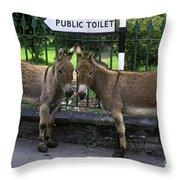 Public Toilet Throw Pillow