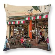 Puccini Throw Pillow by Kate Brown