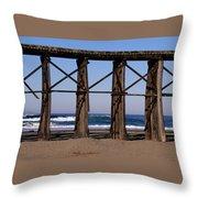 Pudding Creek Beach Throw Pillow