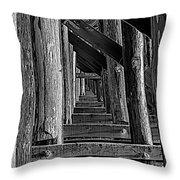 Pudding Creek Bridge  Throw Pillow