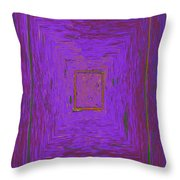 Puddle Blue Throw Pillow