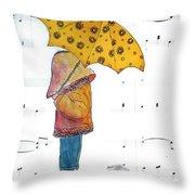 Puddle Hop Throw Pillow