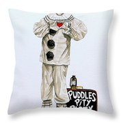 Puddles Loves Throw Pillow