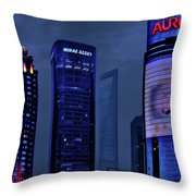 Pudong - Epitome Of Shanghai's Modernization Throw Pillow