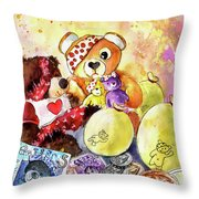 Pudsey And Truffle Mcfurry For Children In Need Throw Pillow