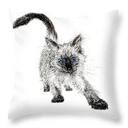 Pudsquiz Belina On The Prowl  Throw Pillow