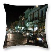 Puebla At Night 1 Throw Pillow