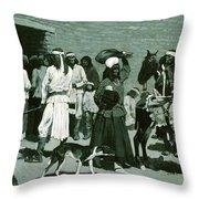 Pueblo Indian Village Throw Pillow