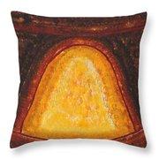 Pueblo Kiva Fireplace Original Painting Throw Pillow
