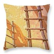 Pueblo Ladders Throw Pillow