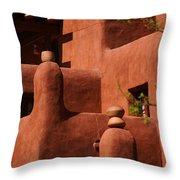 Pueblo Revival Style Architecture II Throw Pillow