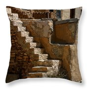 Pueblo Stairway Throw Pillow
