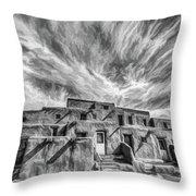 Pueblo Storm Clouds Throw Pillow