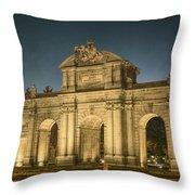 Puerta De Alcala Night Throw Pillow