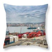 Puerto De Valparaiso Throw Pillow