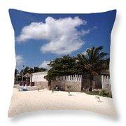 Puerto Morelos Throw Pillow