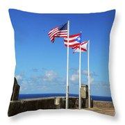 Puerto Rican Flags Throw Pillow