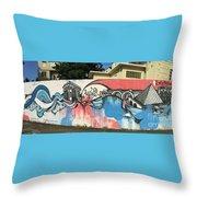 Puerto Rican Graffiti Throw Pillow