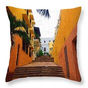 Puerto Rico Ally Way Throw Pillow