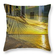 Puerto Rico Collage 3 Throw Pillow