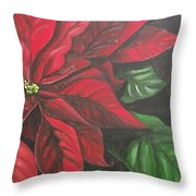 Puff Of Red Throw Pillow