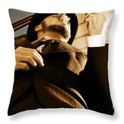 Puffing Pipe Dreams Throw Pillow