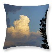 Puffy Cloud Throw Pillow
