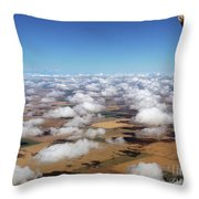 Puffy Clouds  3772 Throw Pillow