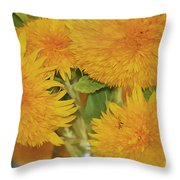 Puffy Golden Delight Throw Pillow