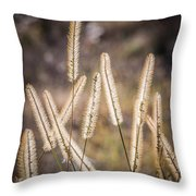 Foxtails In The Marsh Throw Pillow