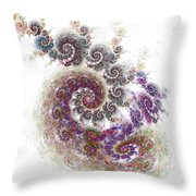 Puffy Spirals Throw Pillow