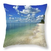 Puffy White Clouds At Delnor-wiggins Throw Pillow by Robb Stan