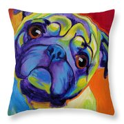 Pug - Lyle Throw Pillow by Alicia VanNoy Call