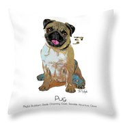 Pug Pop Art Throw Pillow