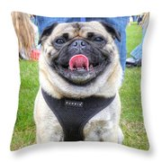 Pug Portrait Throw Pillow