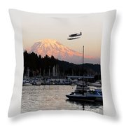 Puget Sound Landing Throw Pillow