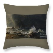 Puget  Sound  On  The  Pacific  Coast, Throw Pillow