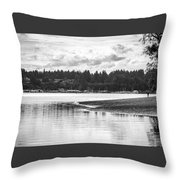 Puget Sound Reflections Throw Pillow