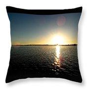Puget Sound Sunset 3 Throw Pillow