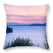Puget Sound Twilight Throw Pillow