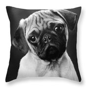Pugged Throw Pillow