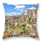 Puglia Canvas Church Hermitage Pulsano - Monte Sant Angelo - Foggia - Gargano Throw Pillow