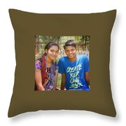 Puja Prasad Jatin Patra Throw Pillow