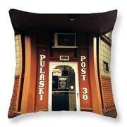 Pulaski Post Throw Pillow