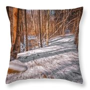 Pulled Into The Woods Throw Pillow