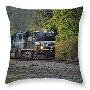 Pulling Coal Throw Pillow