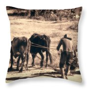Pulling Hard Throw Pillow