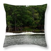 Pulling Up A Seat Throw Pillow