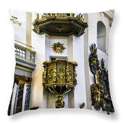 Pulpit Kalmar Cathedral Throw Pillow